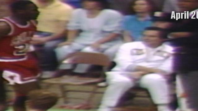 Berita video cuplikan legenda NBA, Michael Jordan, mencetak rekor 63 poin untuk Chicago Bulls saat menghadapi Boston Celtics di NBA playoff pada 20 April 1986.