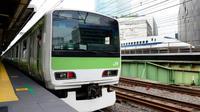 Ilustrasi kereta dalam kota Tokyo (AFP)
