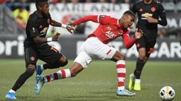 2. Myron Boadu (AZ Alkmaar) - Pemain berusia 18 tahun itu sudah mengemas sembilan gol dan enam assist dari 14 laga. Myron Boadu tercatat telah bermain sebanyak 2.335 menit.(AFP/John Thys)