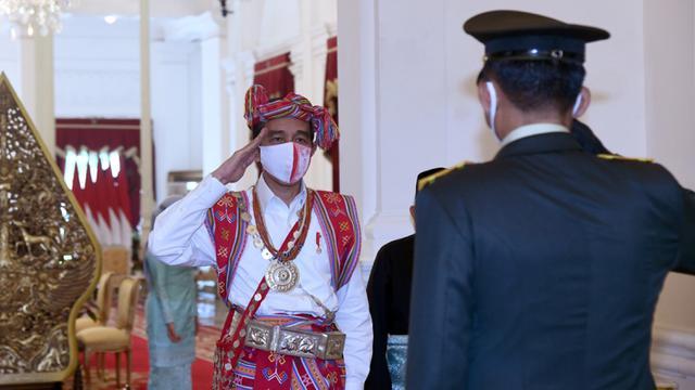 Jokowi Kenakan Baju Timor Tengah Selatan di HUT ke-75 RI