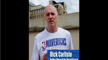 Berita Video Pelatih Klub NBA, Rick Carlisle Ajarkan Teknik Dasar Basket dan Kampanyekan Social Distancing