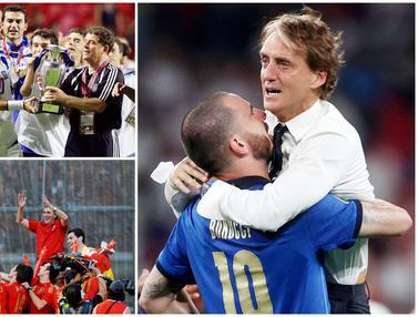 Foto Piala Eropa: Daftar Juru Taktik Jenius yang Berhasil Mempersembahkan Trofi di Ajang Euro