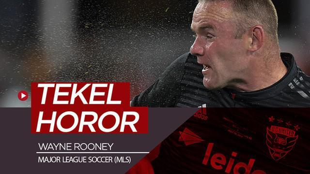 Berita video momen mantan striker Manchester United, Wayne Rooney melakukan tekel mengerikan di MLS (Major League Soccer).