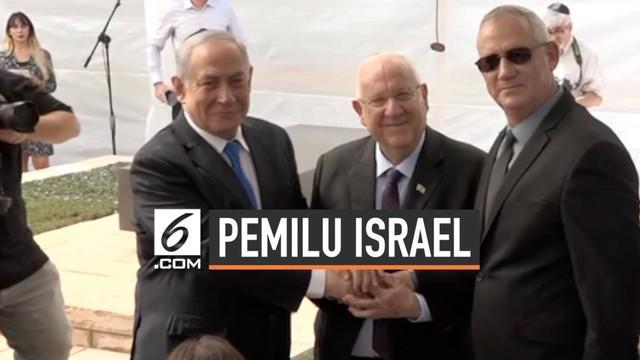 PM Israel  Benjamin Netanyahu dan partainya gagal meraih mayoritas suara di pemilu parlemen, alhasil ia mengajak rivalnya Benny Gantz untuk membentuk pemerintahan bersama.