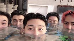 Persahabatan ketiganya juga kerap kali ditunjukkan oleh unggahan Park Seo Joon di akun Instagram-nya. (Liputan6.com/IG/@bn_sj2013)