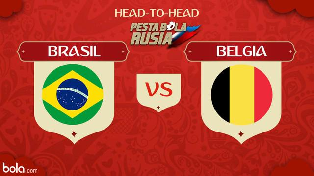 Berita video head-to-head Piala Dunia Rusia 2018: Brasil vs Belgia.