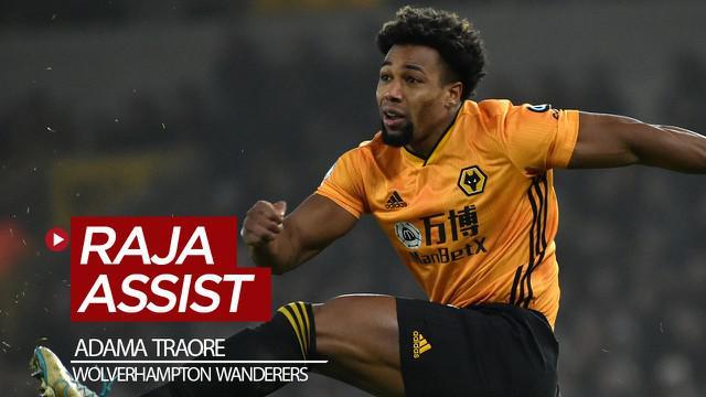 Berita video Adama Traore yang tercatat menjadi raja assist bagi Wolves setelah melakoni laga kontra Liverpool pada pekan ke-24 Premier League 2019-2020, Kamis (23/1/2020).