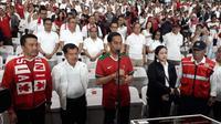 Presiden Joko Widodo (Jokowi) meresmikan Stadion Utama Gelora Bung Karno (SUGBK) pada Senin, (14/1/2018) malam. (Deny/Liputan6.com)