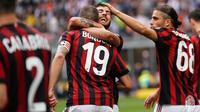Patrick Cutrone merayakan gol yang dicetaknya ke gawang Fiorentina. (doc. AC Milan)