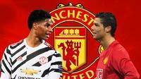 Manchester United - Marcus Rashford dan Cristiano Ronaldo (Bola.com/Adreanus Titus)