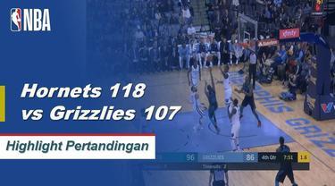 Kemba Walker mencetak 22 poin dan mengumpulkan tujuh assist dalam kemenangan Charlotte 118-107 atas Memphis.