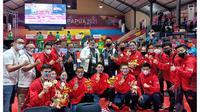 Atlet wushu DKI Jakarta yang berlaga di PON XX Papua 2021