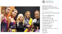 Rumah mode asal Italia, Versace tak akan lagi menggunakan material bulu hewan asli dalam koleksinya. (Foto: Instagram @versace)