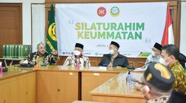 Presiden Partai Keadilan Sejahtera Ahmad Syaikhu dan jajaran menggelar Silaturahim Keummatan ke Dewan Da'wah Islamiyah Indonesia (DDII), Senin (3/5/2021)