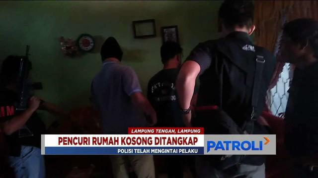 Polres Lampung Tengah bekuk DPO pencuri rumah kosong di Lampung Tengah, Lampung.