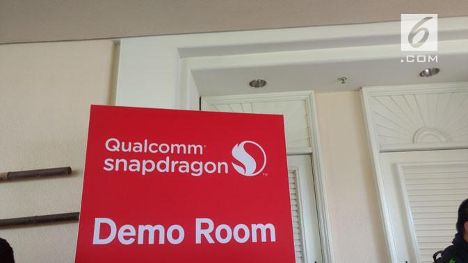Ruangan khusus di Qualcomm Snapdragon Tech Summit 2017 di mana perusahaan mendemokan beberapa produk dan teknologi terbaru yang menggunakan Snapdragon 845. (Liputan6.com/Corry Anestia)