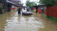 Banjir di Makassar. (Liputan6.com/Eka Hakim)