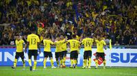 Timnas Malaysia saat menjamu Myanmar di Stadion Nasional Bukit Jalil, Kuala Lumpur, pada penyisihan Grup A Piala AFF 2018. (Bola.com/AFF Suzuki Cup)