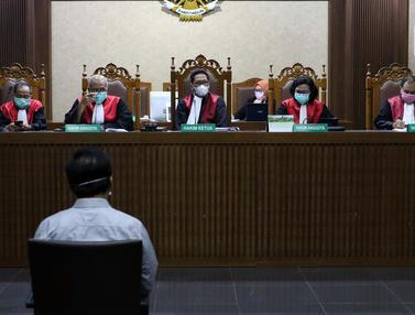 Simak Tuntutan Nurdin Basirun, Majelis Hakim Kenakan Masker