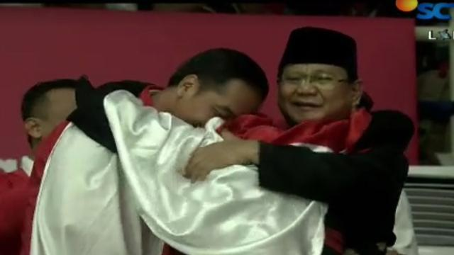 Pelukan Jokowi Dan Prabowo Bukti Asian Games 2018 Alat Pemersatu