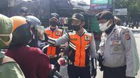 Arus kendaraan di Kota Bogor, Jawa Barat meningkat di hari keempat pemberlakuan Pembatasan Sosial Berskala Besar (PSBB). (Foto:Liputan6/Achmad Sudarno)