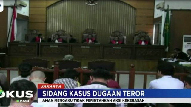 Dalam pledoinya kemarin, Aman menolak dakwaan jaksa yang menyebutnya sebagai dalang atas serangan teror sekitar Jalan Thamrin, Jakarta.