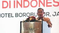 Menteri Koordinator Bidang Perekonomian, Darmin Nasution  saat Peluncuran Buku Kebijakan Vokasi Indonesia, Jakarta, Kamis (21/12/2017). (Fiki/Liputan6.com)