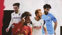 Ilkay Gundogan, Harry Kane, Bruno Fernandes dan Jack Grealish. (Bola.com/Dody Iryawan)