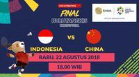 Final Bulutangkis Beregu Putra. (Bola.com/Dody Iryawan)