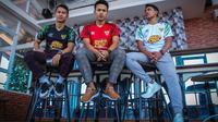 Jersey Timnas Futsal Indonesia yang diproduksinya oleh apparel asal Solo, DJ Sport. (Bola.com/Vincentius Atmaja)