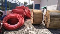 Kabel optik Palapa Ring Barat putus karena jangkar kapal. (Liputan6.com/ Ajang Nurdin)