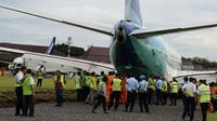 Pesawat Garuda Indonesia. (Liputan6.com/Switzy Sabandar)