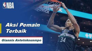 Berita Video Giannis Antetokounmpo Bawa Milwaukee Bucks Menang Atas Charlotte Hornets  93-85