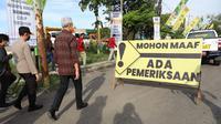 Gubernur Jateng Ganjar Pranowo saat mengecek jalur mudik dan jalan tikus di Brebes. (Foto: Liputan6.com/Felek Wahyu)