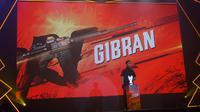 Gibra Rakabuming Raka sedang membuka kompetisi eSport Free Fire Piala Mas Gibran di Diamond Convention Center Solo, Sabtu (28/12).(Liputan6.com/Fajar Abrori)