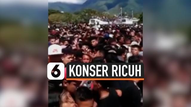 Konser musik berakhir ricuh di Caracas, Venezuela. Akibatnya, 3 orang penonton dilaporkan tewas dan 37 lainnya terluka karena peristiwa ini.