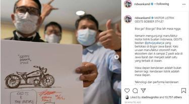 Ridwan Kamil Juga Berencana Desain Gesits Bobber Klasik (Ist)