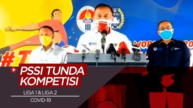 Berita Video PSSI Tunda Shopee Liga 1 2020 dan Liga 2 Karena Kasus COVID-19 Masih Tinggi
