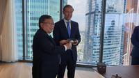 Menteri PPN/Bappenas Bambang Brodjonegoro dan Menteri Industri dan Perdagangan Rusia Denis Manturov. Dok: Kementerian PPN/Bappenas