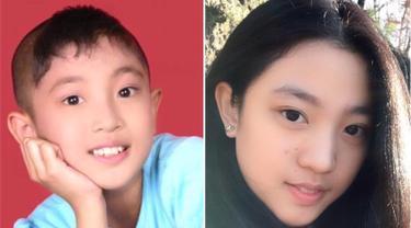 Pemilik nama lengkap Nona Berlian Sakinah ini dikenal masyarakat dengan perannya sebagai Wati di sinetron Ronaldowati. Wati merupakan anak perempuan yang berkepala botak dan bersifat tomboy. (Liputan6.com/IG/@nonaberlian14)