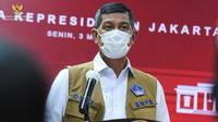 Ketua Satgas COVID-19 Doni Monardo memberikan keterangan pers usai Rapat Terbatas mengenai Penanganan Pandemi COVID-19 di Kantor Presiden Jakarta, Senin (3/5/2021). (Biro Pers Sekretariat Presiden)