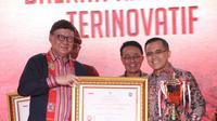 "Kementerian Dalam Negeri (Kemendagri) kembali menetapkan Kabupaten Banyuwangi sebagai ""Kabupaten Terinovatif"" dalam kompetisi Innovative Government Award (IGA) 2019."