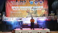 Edukasi sadar bencana di lapangan Reunghas, Desa Citeureup, Kecamatan Panimbang, Kabupaten Pandeglang, Banten pada Sabtu (5/10/2019). (Dok Badan Nasional Penanggulangan Bencana/BNPB)