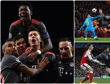 Momen Bayern Munchen Bantai Arsenal 10-2 di Liga Champions