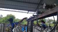 Pabrik oksiden Asiana Gasindo Kota Padang. (Liputan6.com/ Novia Harlina)