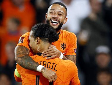 Foto: Menang 6 Gol Tanpa Balas, Belanda Tanpa Ampun Hajar Gibraltar di Kualifikasi Piala Dunia 2022