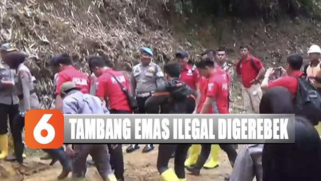 Penggerebekan tambang emas ilegal ini diduga bocor mengingat lokasi tambang yang dituju sudah ditutup warga.