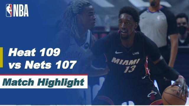 Berita Video Highlights NBA, Bam Adebayo Bantu Miami Heat Kalahkan Brooklyn Nets 109-107