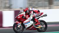 Pembalap Idemitsu Honda Team Asia di kelas Moto3, Andi Gilang. (Twitter/Idemitsu Honda Team Asia)