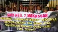 Orangtua dan Anak Pukul Guru di Makassar Jadi Tersangka